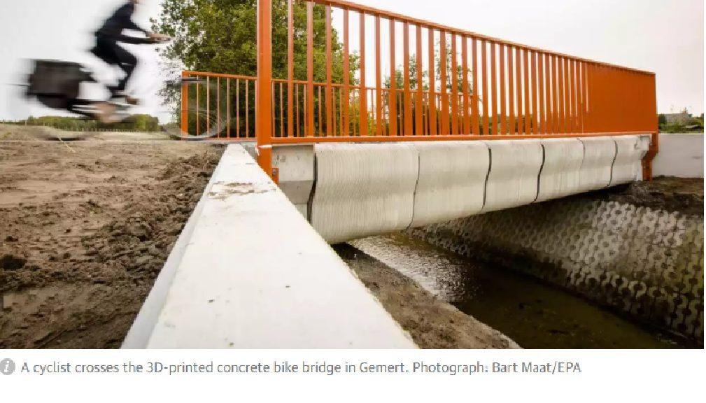 Primer puente impreso en 3D del mundo se abre a ciclistas en Holanda