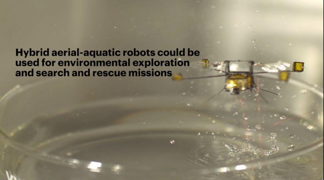 Robot de Harvard con capacidad de sumergirse en agua y volar