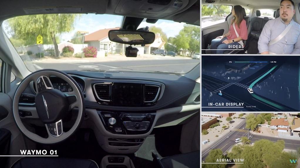 Carro autónomo de Google (Waymo) se vuelve completamente autónomo y por primera vez sale a la calle sin conductor