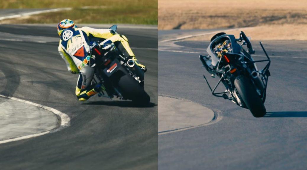 Motobot vs Valentino Rossi: la máquina por sí sola está más cerca de ganarle al ser humano
