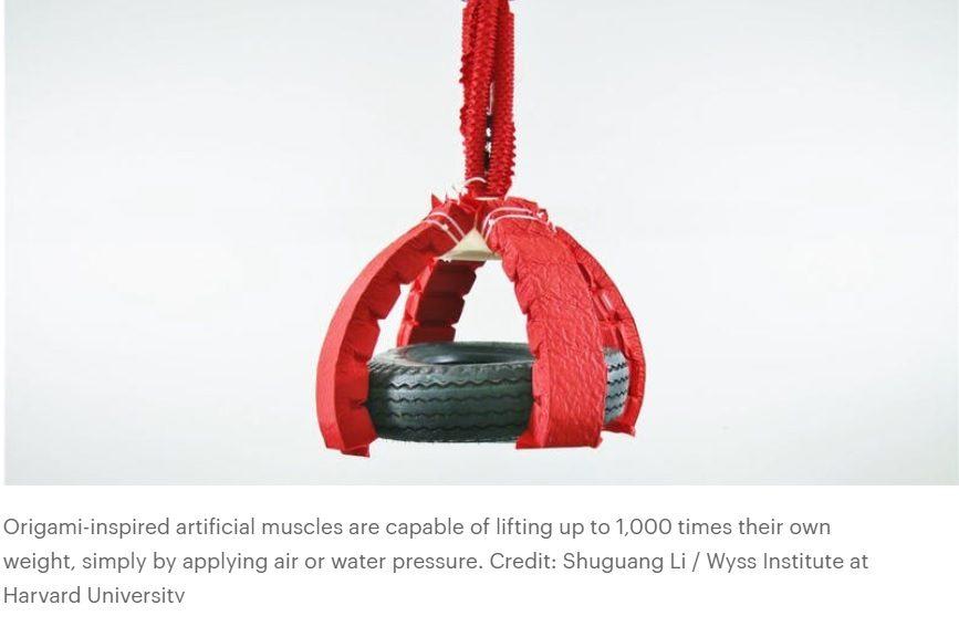 Robot tipo origami puede levantar 1000 veces su peso