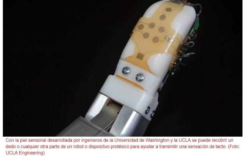 """Nueva """"piel"""" para robots y para prótesis robotizadas"""