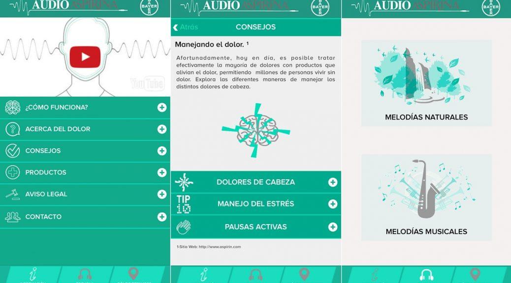 Aplicativo que ayuda a atenuar los dolores de cabeza, gratis para iPhone, iPad, Android
