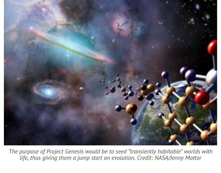 El Proyecto Génesis busca sembrar vida en planetas distantes