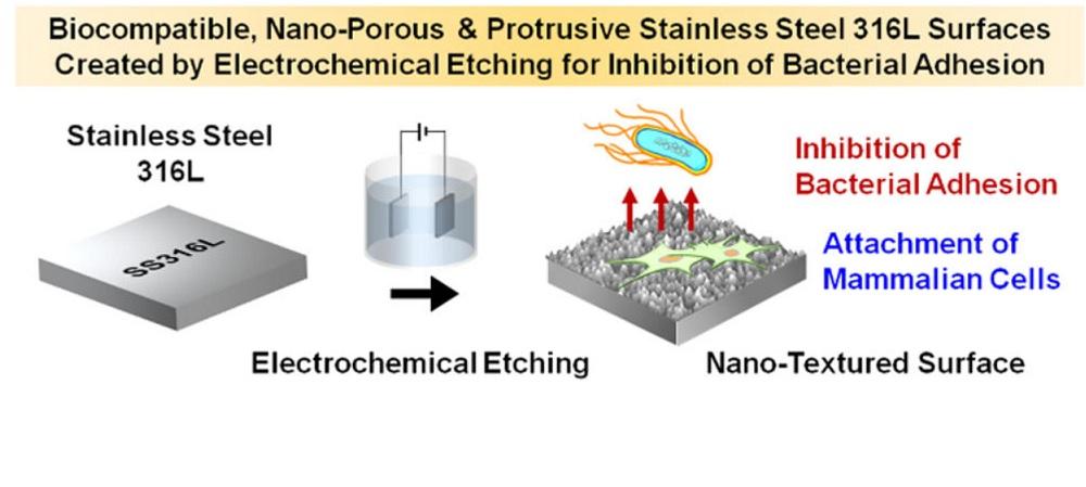 Un nuevo tipo de acero mata bacterias con nanopuntas