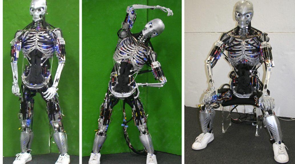 """Crean robots que hacen flexiones y """"sudan"""""""