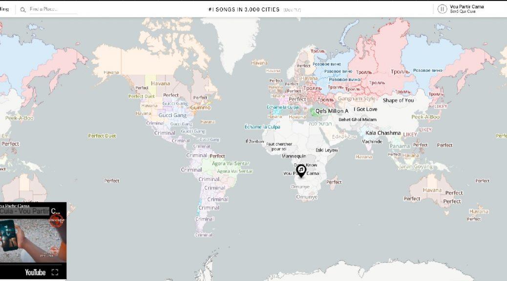 Mapa interactivo muestra qué canciones triunfan alrededor del mundo