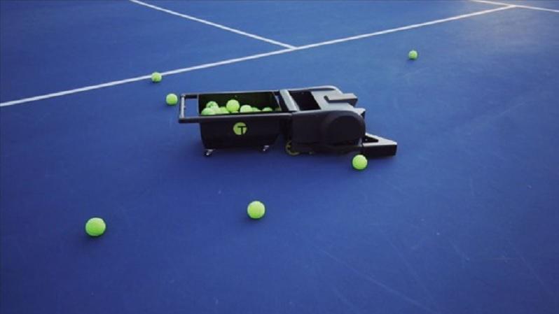El robot recogebolas para las canchas de tenis