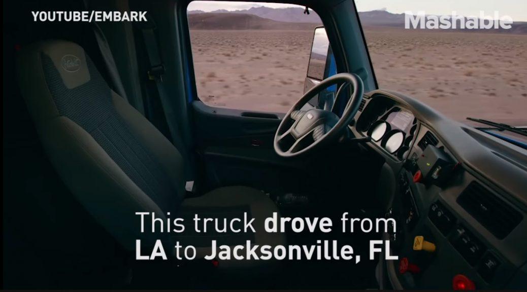 Camión de carga autónomo completa recorrido de prueba de costa a costa en EE.UU.