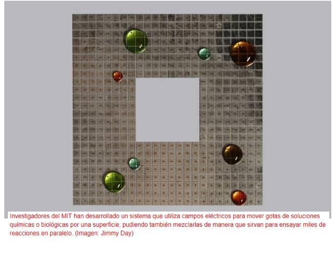 Desarrollan tecnología para obtener gotas programables