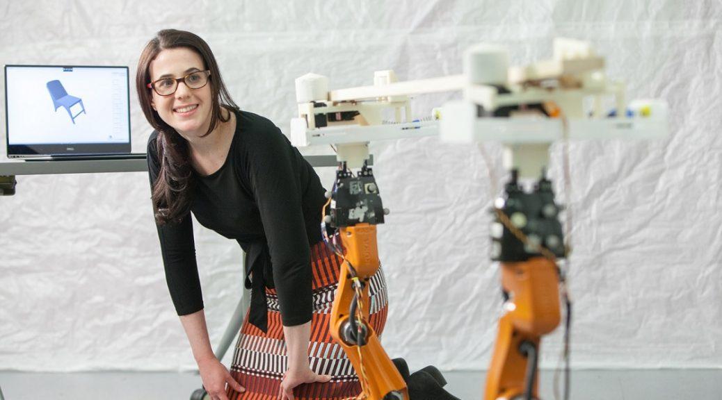 Carpinteros robóticos de MIT para fabricar muebles personalizados