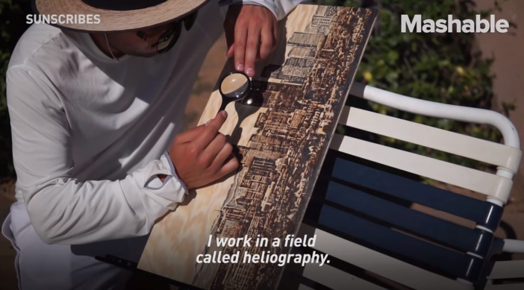 Este artista usa la luz del sol como pincel para crear sus pinturas