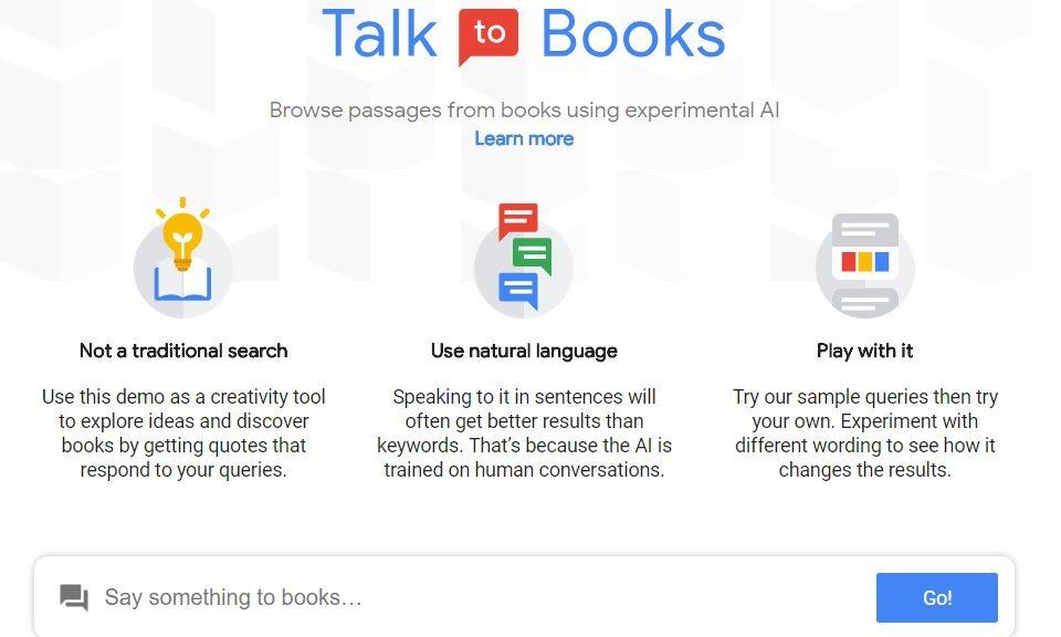 Experimento de inteligencia artificial de Google le hace hablar con libros