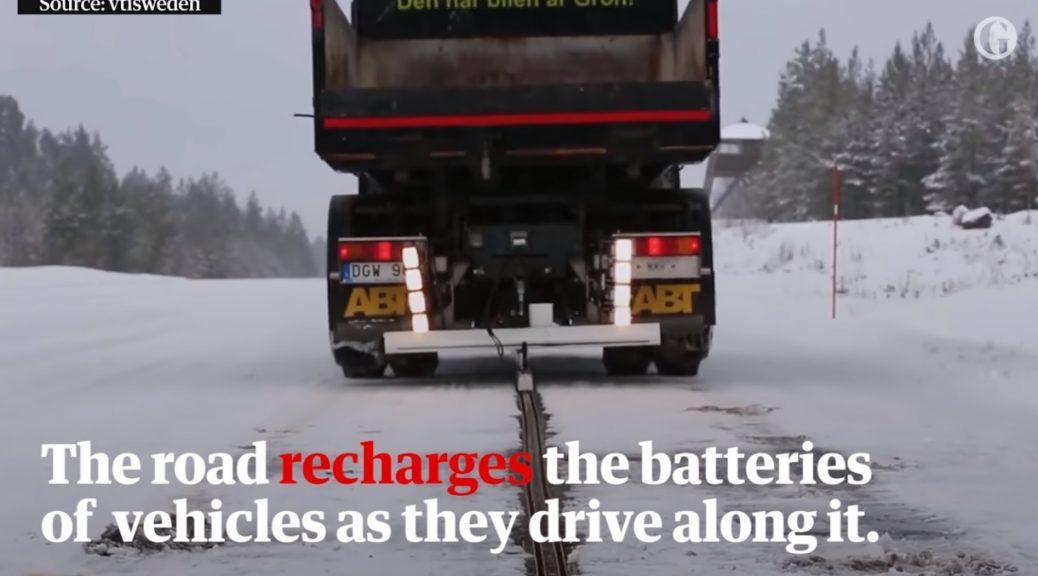 La primera carretera electrificada del mundo para recargar vehículos se abre en Suecia