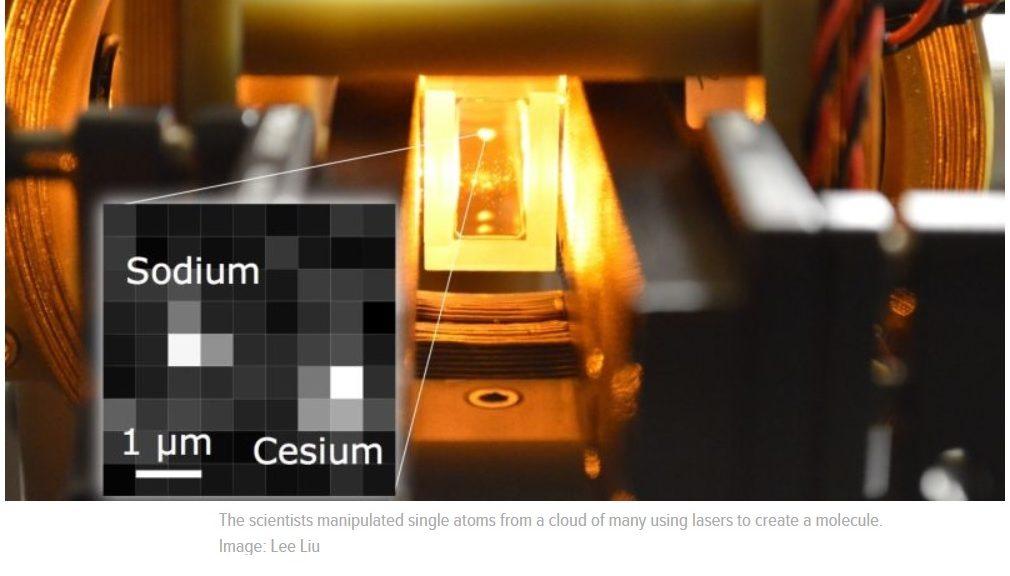 Científicos hacen una molécula manipulando solo dos átomos
