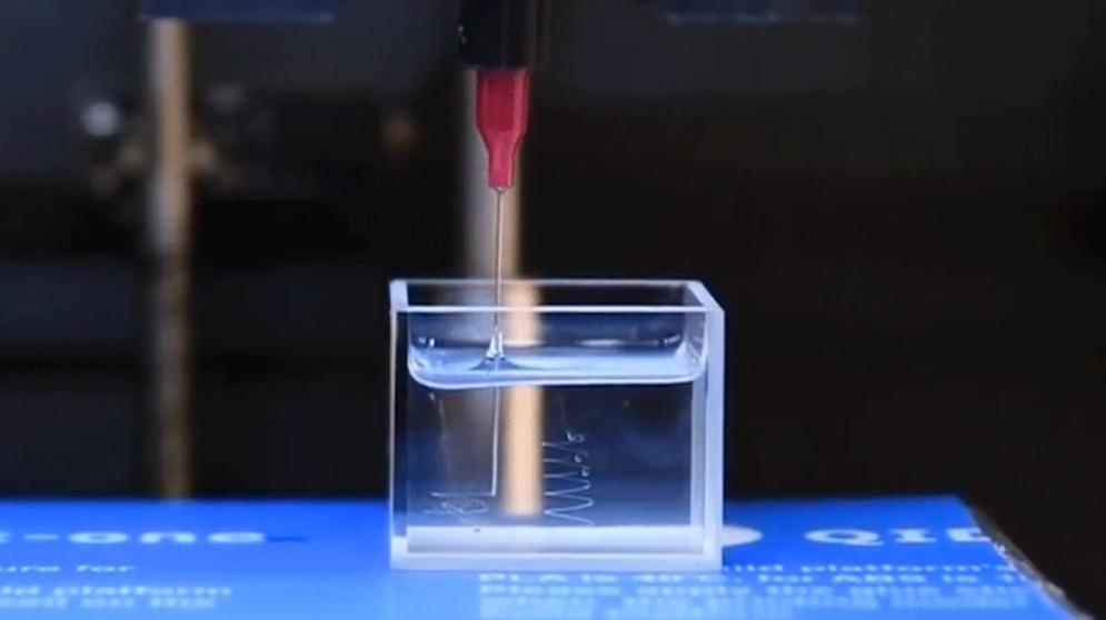Un avance en la impresión de líquidos en 3D podría conducir a aparatos flexibles
