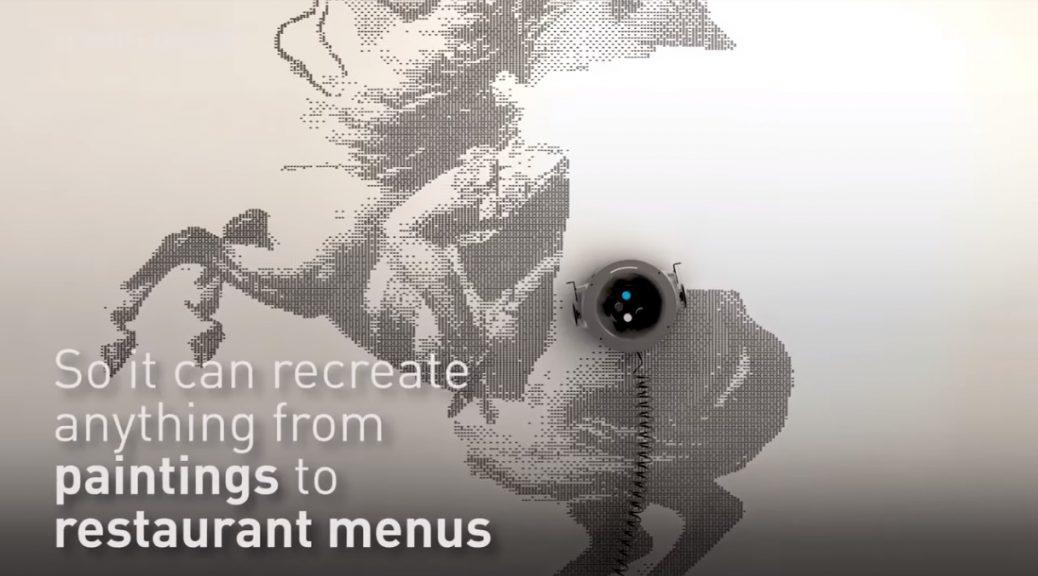 Este robot puede transformar sus paredes en obras de arte