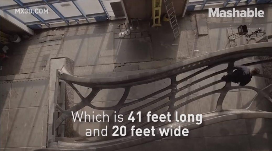 Cuatro robots acaban de terminar la impresión en 3D de un puente completo
