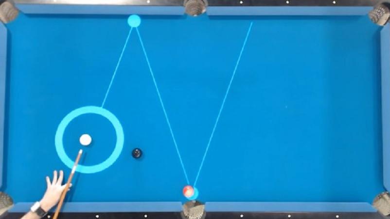 Realidad aumentada para mejorar su juego de Pool
