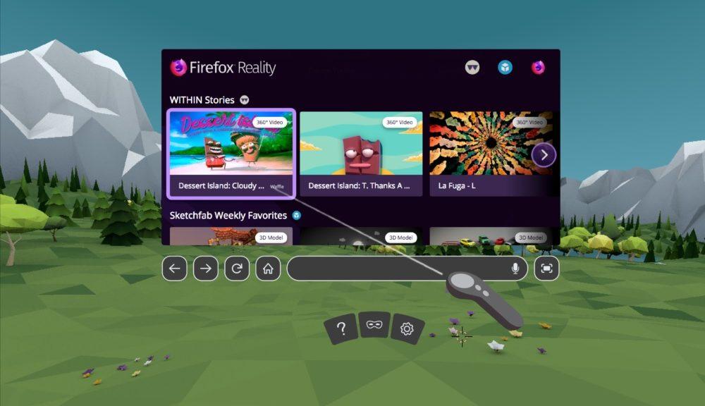 Firefox Reality es un navegador diseñado específicamente para realidad virtual
